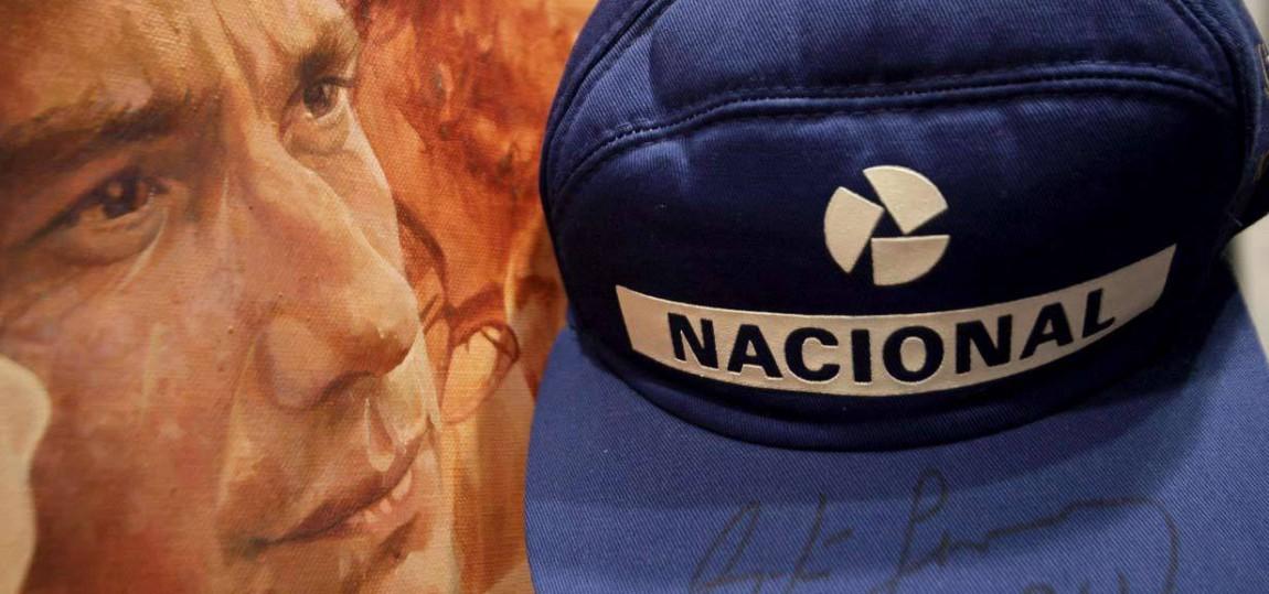 Die Kappe von Ayrton Senna