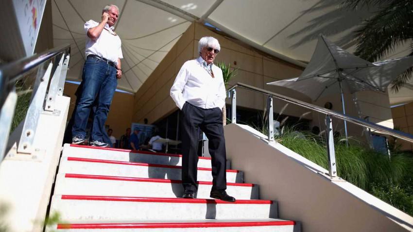 Bernie Ecclestone und Helmut Marko