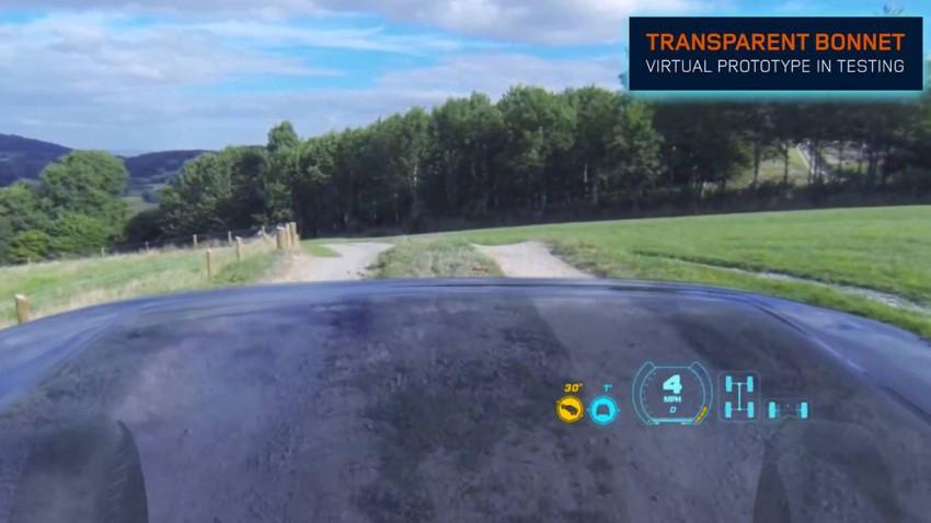 land rover transparent bonnet concept