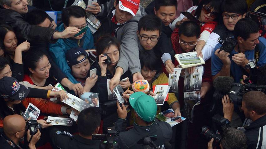 Lewis Hamilton 2014 in China
