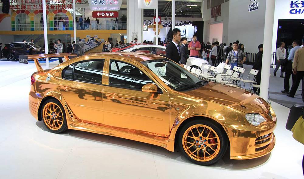 Lotus gold foliert