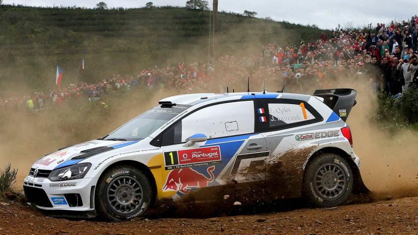 Sebastien Ogier bei der Rallye Portugal 2014