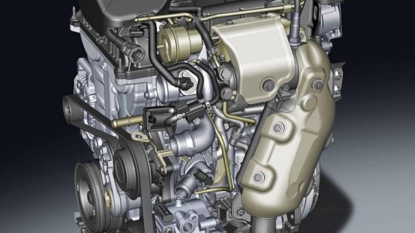 Der motornahe Turbolader setzt den Dreizylinder unter Druck.