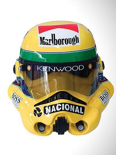 Ayrton Senna Stormtrooper Rennhelm Racing Helm