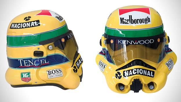 Ayrton Senna Stormtrooper Rennhelm Racing Helmet