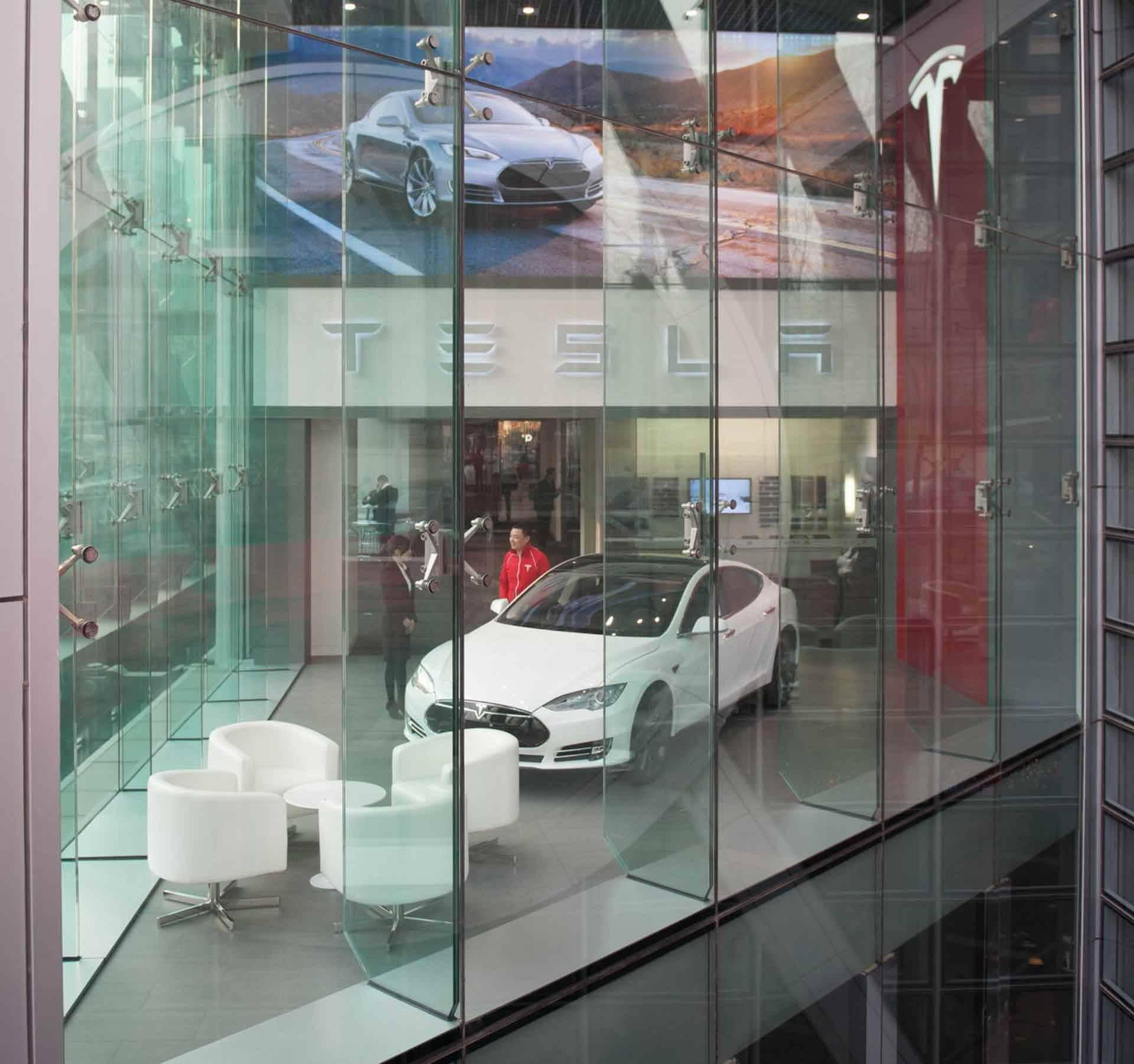 Der Tesla Store in Peking