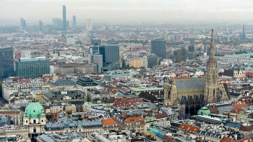 Luftaufnahme von Wien