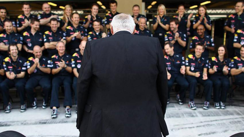 Dietrich Mateschitz und das Red Bull Team