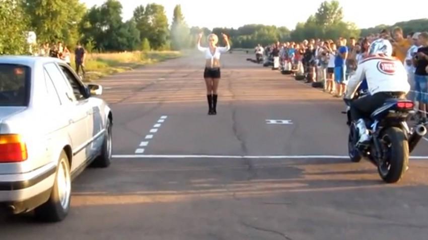Drag Race Fail BMW vs Motorrad