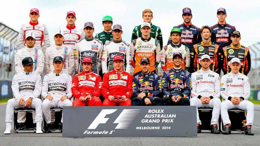 Alle Formel 1 Fahrer der Saison 2014