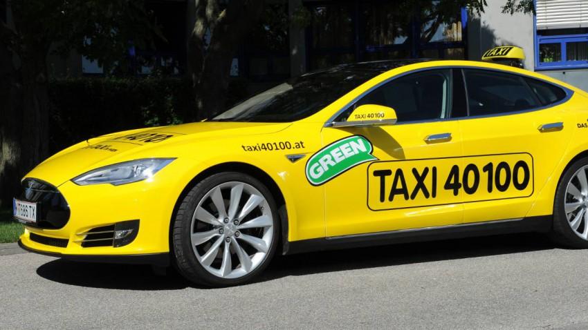 Erstes E-Taxi in Wien ist ein Tesla Model S