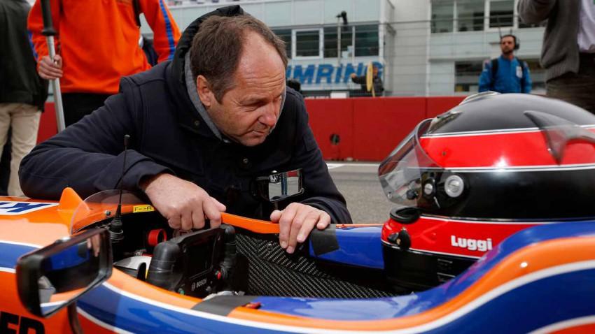 Lucas Auer mit Gerhard Berger