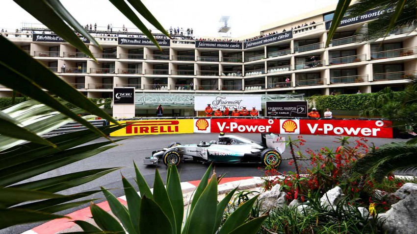 Nico Rosberg beim Training in Monaco