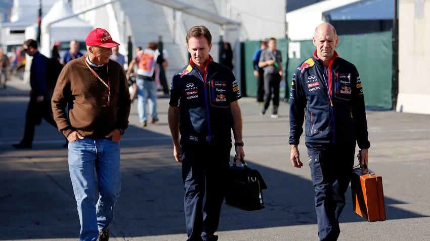 Niki Lauda, Christian Horner und Adrian Newey gp montreal