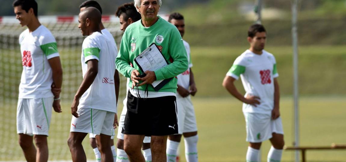 algerien im training bei der wm 2014
