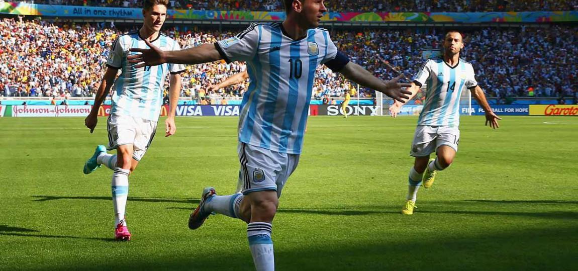 Lionel Messi beim Torjubel