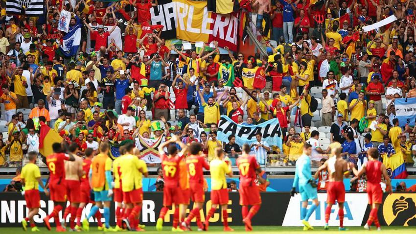 Belgien gewinnt nach einer schwachen ersten Hälfte gegen Algerien. © Ian Walton/Getty Images