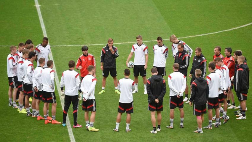 Deutschland beim Training bei der WM 2014 in Brasilien