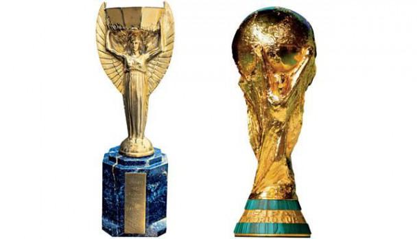 Der Coupe Jules-Rimet und der aktuelle FIFA WM Pokal Bild: © picturedesk.com
