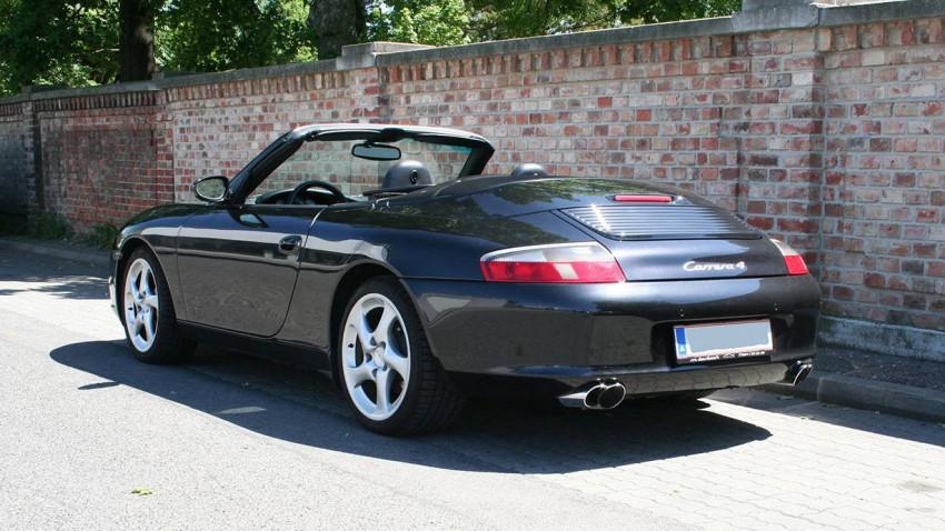 porsche 996 carrera 4 cabrio 2004 heck hinten seite