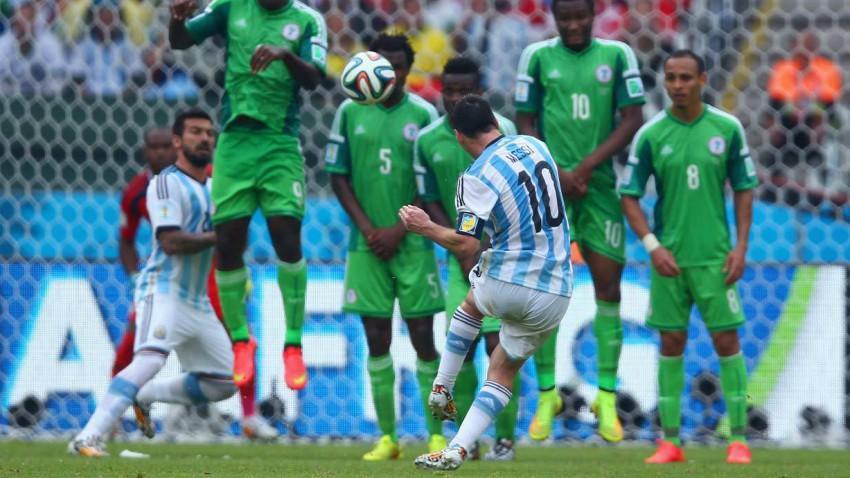 Lionel Messi gegen Nigeria