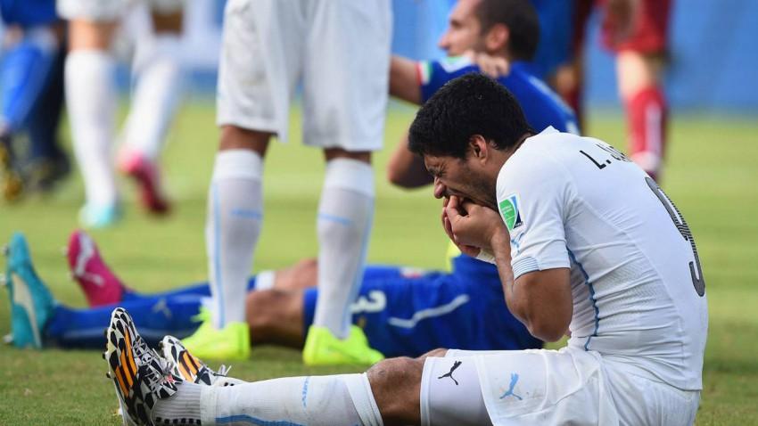 Luis Suarez im Spiel gegen Italien in Brasilien 2014