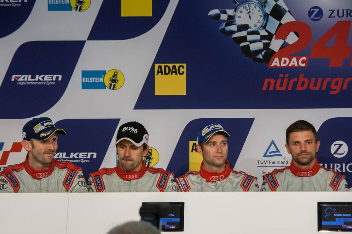 Phoenix Racing in der Pressekonferenz - 24h Rennen Nürburgring