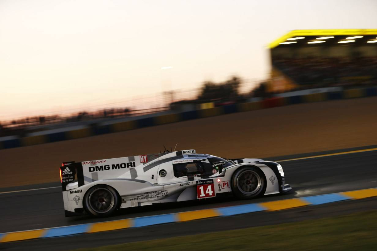 Porsche 919 beim Training in Le Mans