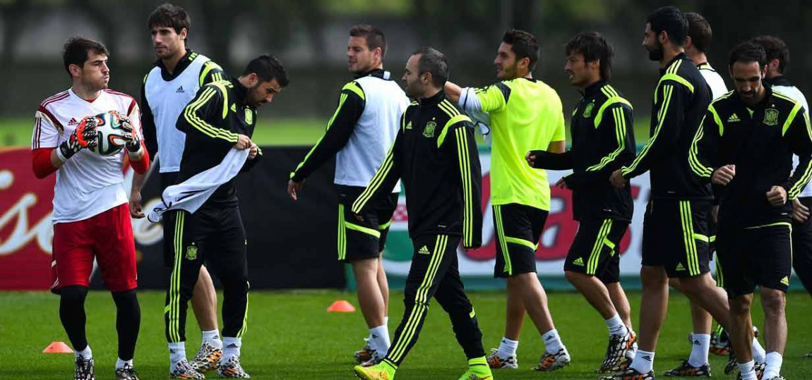 Spanien im Training