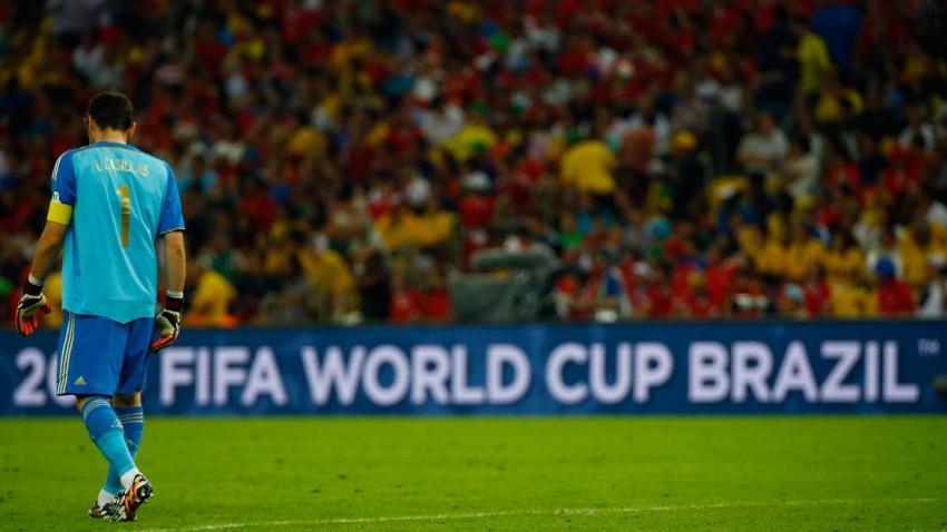 Weltmeister Spanien tritt die vorzeitige Heimreise an. Bild (c): Pilar Olivares / Reuteres