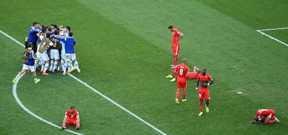 Argentinien jubelt über den Sieg gegen die Schweiz