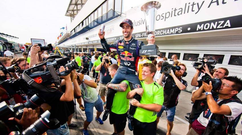 Daniel Ricciardo nach seinem Sieg in Ungarn
