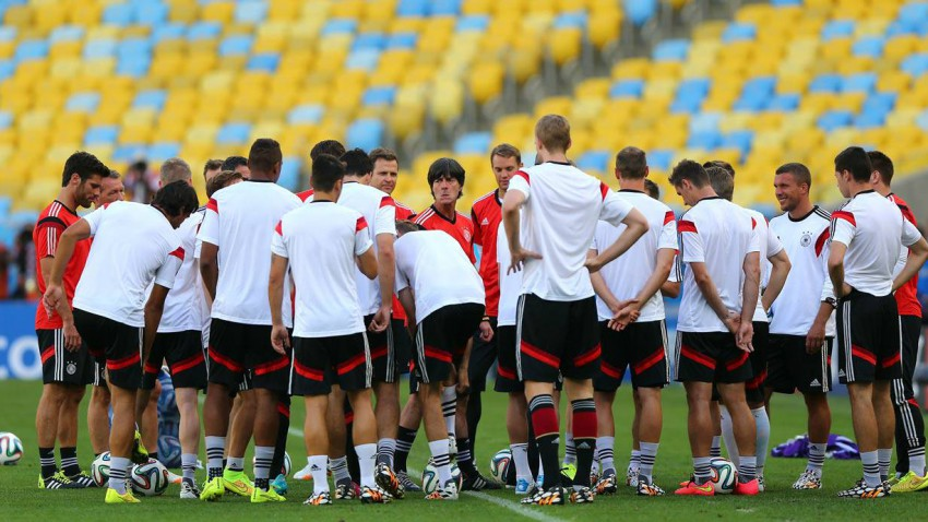 deutschland beim training in brasilien