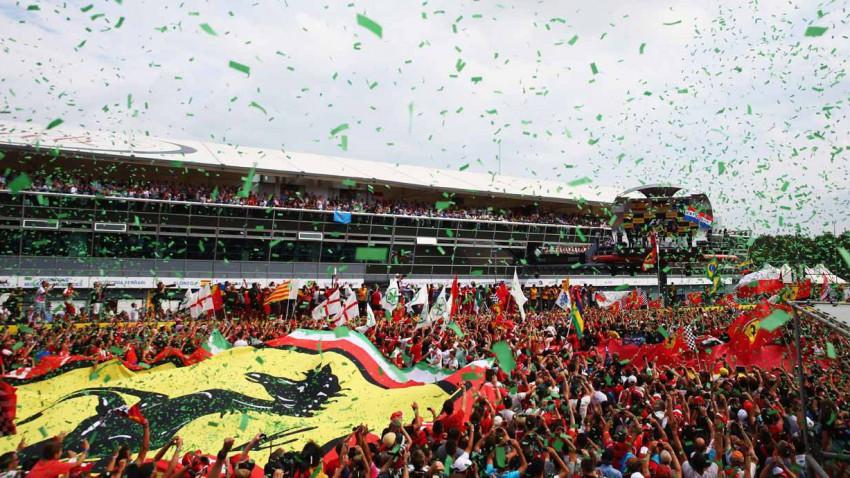 Formel 1 Strecke vom Großen Preis von Italien in Monza