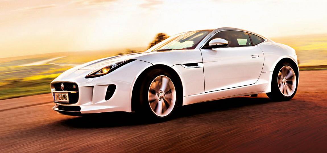 jaguar f-type coupe s 2014 seite felgen vorne scheinwerfer