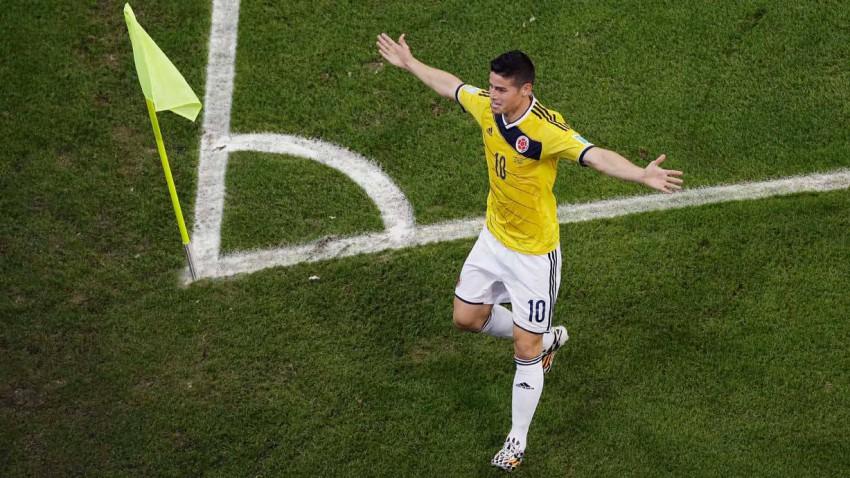 james rodriguez im spiel kolumbien gegen uruguay