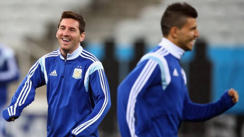 lionel messi training argentinien wm 2014