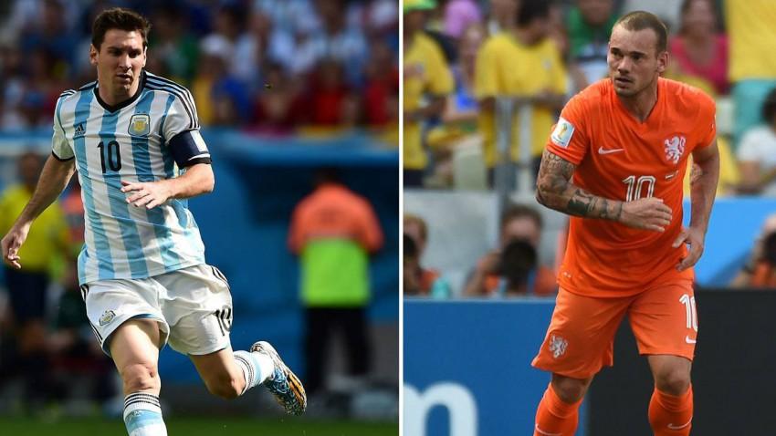 Lionel messi und wesley sneijder