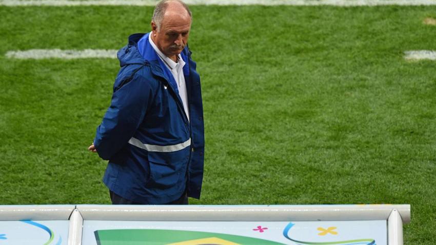 Luiz Felipe Scolari im spiel brasilien gegen deutschland 1 7