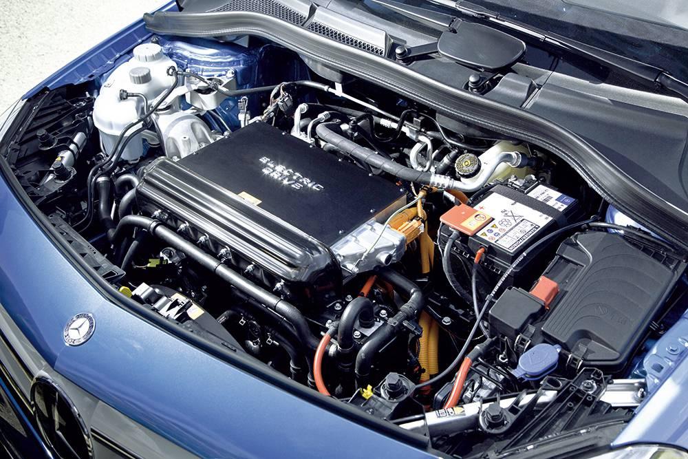 mercedes b electric drive motor motorraum