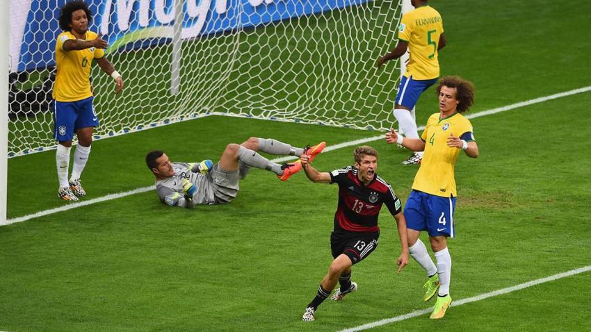 Müller leitete den Torhagel gegen Brasilien in der 11. Minute ein. © Jamie McDonald/Getty Images