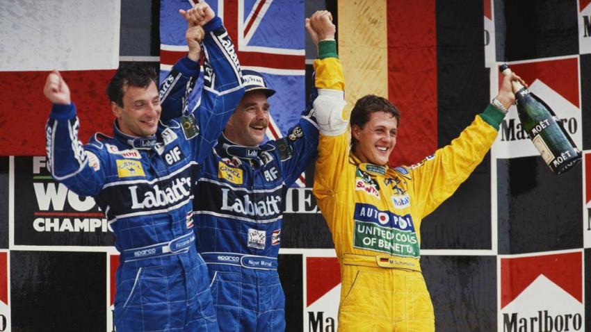 Nigel Mansell gewann vor Riccardo Patrese und Michael Schumacher den letzten GP Mexiko.