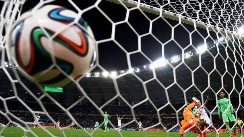 Andre Schürrle trifft gegen Algerien im Achtelfinale.