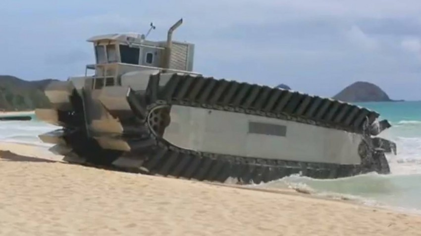 U.S. Marines UHAC Beach Assault Vehicle.