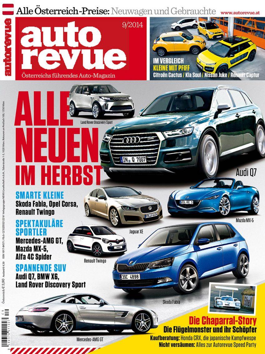 Autorevue Magazin-Archiv: Ausgabe 09/2014