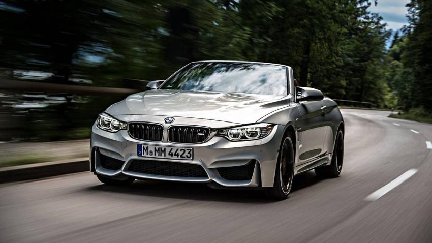 BMW M4 Cabrio 2015 vorne front seite scheinwerfer