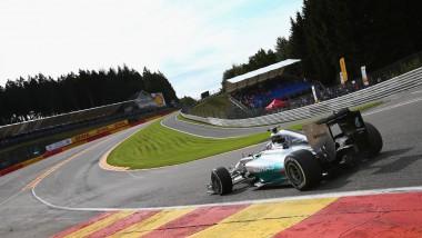 Lewis Hamilton beim Training für den GP Belgien