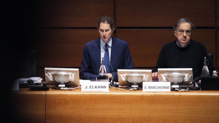 John Elkann und Sergio Marchionne bei der Aktionärsversammlung