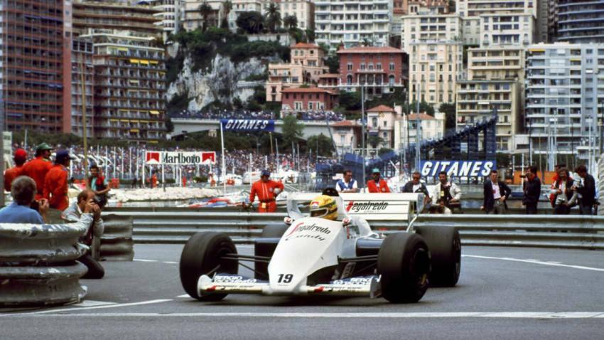 Ayrton Senna 1984 beim GP von Monaco