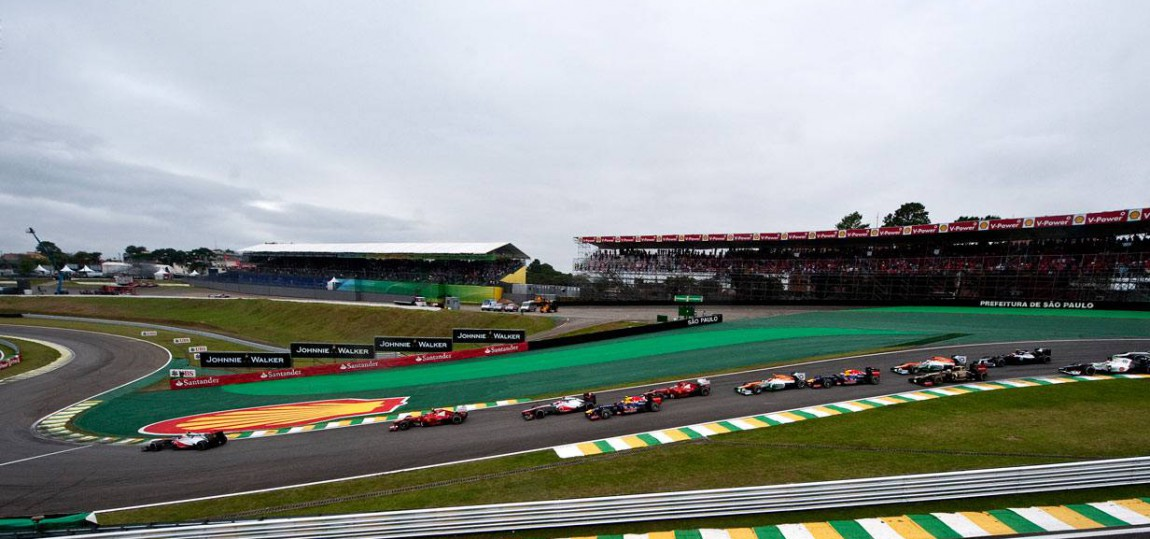 Formel 1 Strecke von Sao Paulo